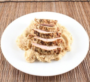 Whole30-Day 16 Dijon Pork Tenderloin and Mashed Roasted Cauliflower and Garlic