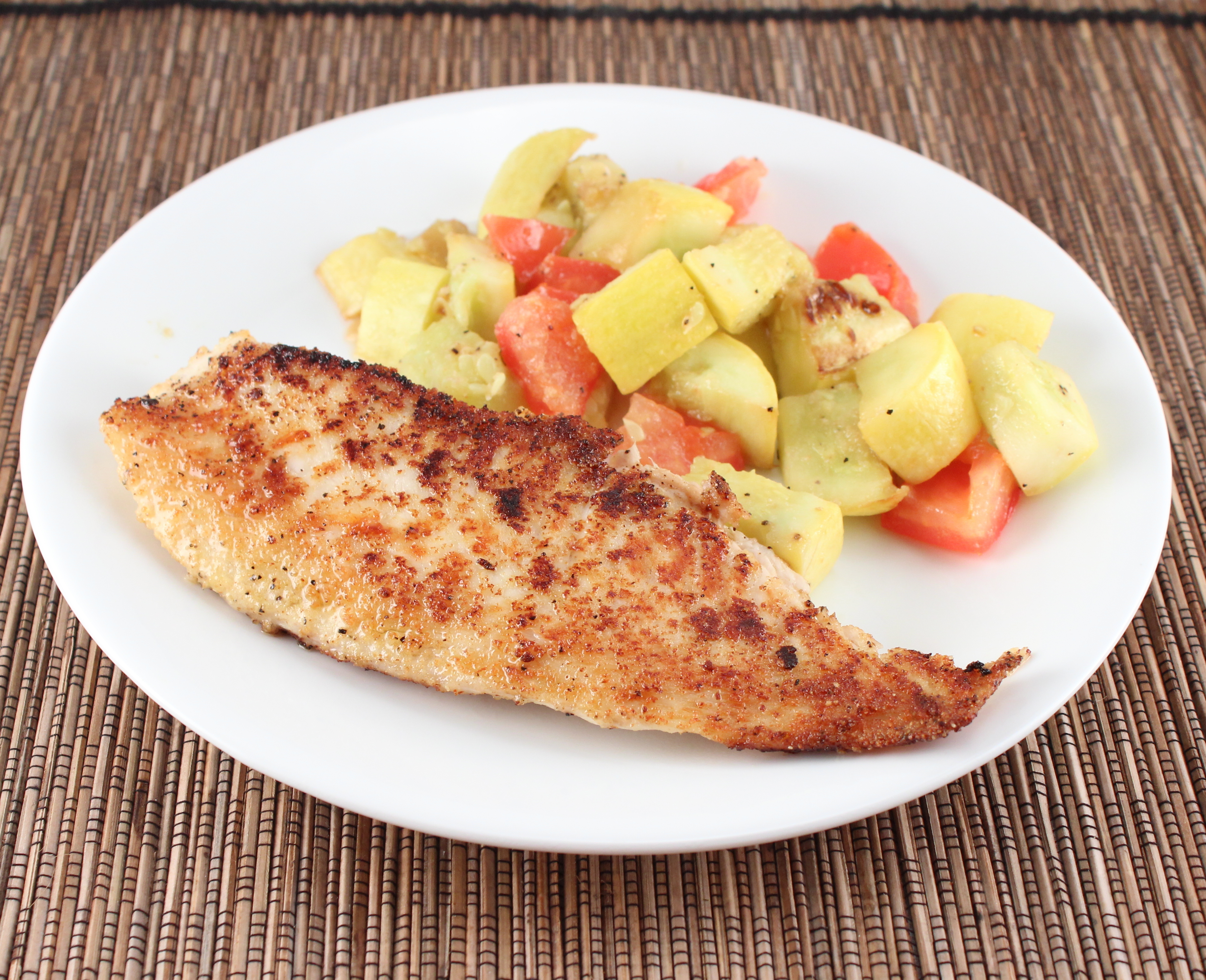 Whole30 day 3 and spiced tilapia holistically engineered for Low carb fish breading