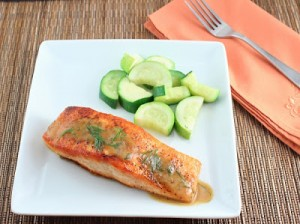 Salmon with Dill Mustard Sauce (Low Carb and Gluten Free)