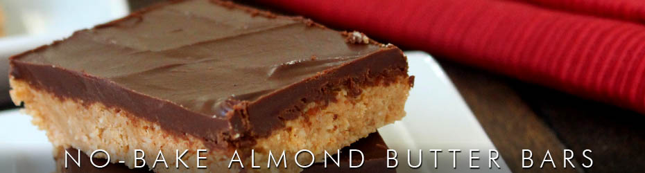 No-Bake Almond Butter Bars