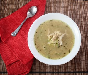 "Comforting Low Carb Dijon Chicken ""Noodle"" Soup (Gluten Free and Paleo)"