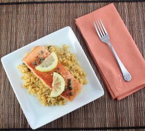 Low Carb Salmon Picatta (Gluten Free and Paleo)