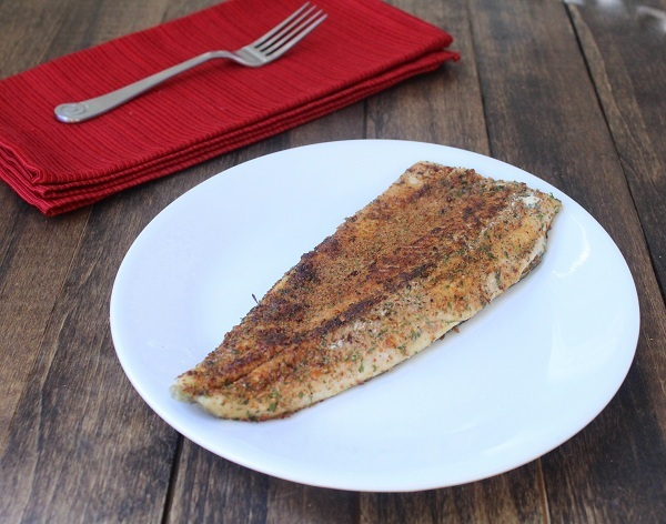Whole30 Cajun Mushroom Encrusted Rainbow Trout
