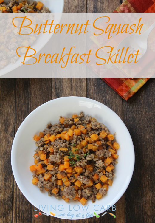Butternut Squash Breakfast Skillet (Low Carb and Paleo)