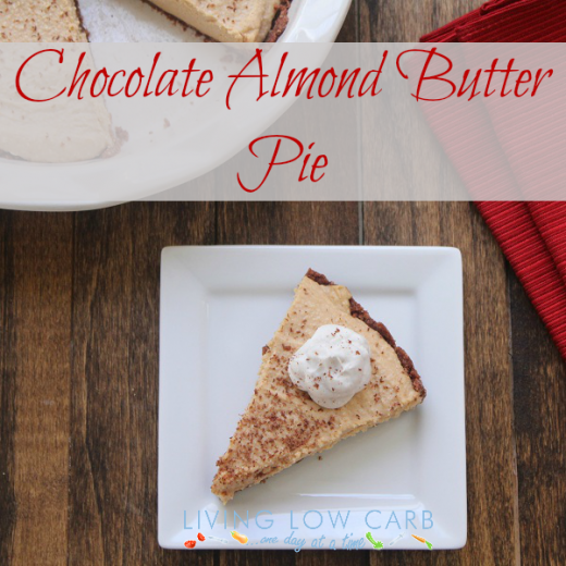 Chocolate Almond Butter Pie (Low Carb and Dairy Free)