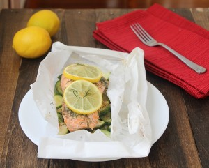 Days 26-28 and #Whole30 Lemon Dill Salmon in Parchment