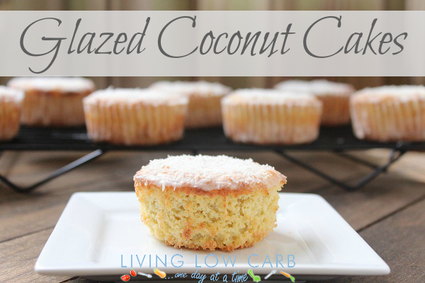 Coconut Cake Recipe Keto: Glazed Coconut Cakes (Low Carb)