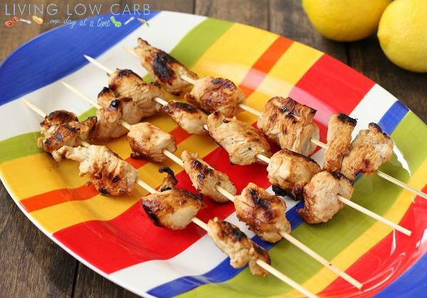 Lemon and Garlic Grilled Chicken Skewers - Holistically Engineered