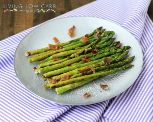 Bacon Vinaigrette Marinated Asparagus and a Grill Giveaway