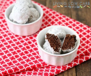 Powdered Chocolate Donut Holes (Low Carb)