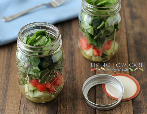 Salad in a Jar with Lemon Vinaigrette Dressing - Holistically ...