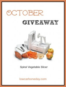 October Giveaway: Spiral Vegetable Slicer