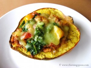 Sausage Stuffed Acorn Squash a Guest Post by The Rising Spoon