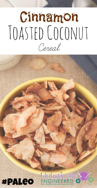 Cinnamon Toasted Coconut Cereal #paleo