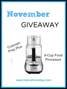 November Giveaway: 9-Cup Cuisinart Prep Plus Food Processor