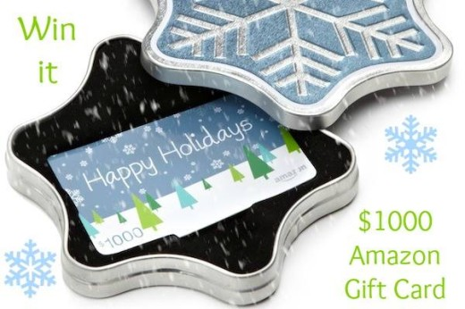 December Giveaway–$1,000 Amazon Gift Card