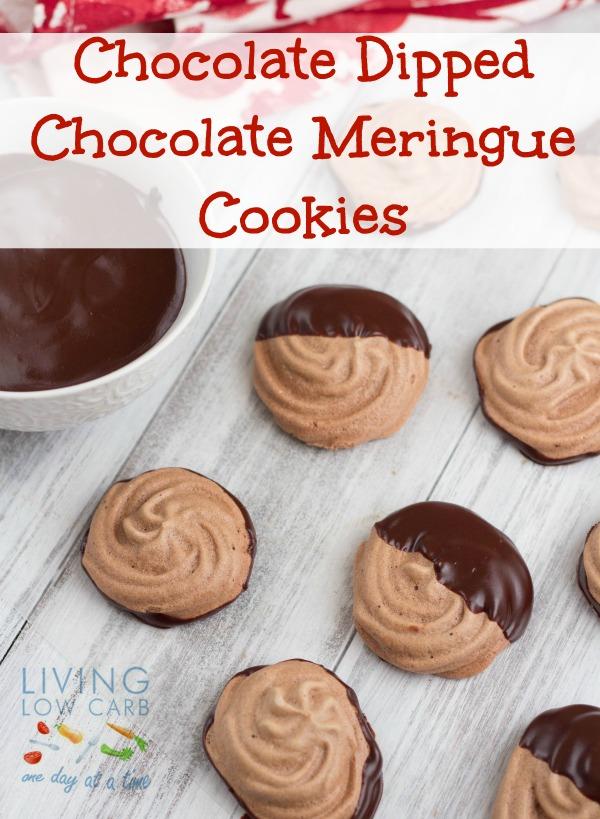 Chocolate Dipped Chocolate Meringue Cookies_pinf