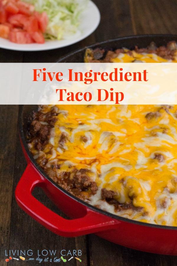 Five Ingredient Taco Dip_pinterest