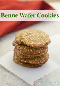 Sesame Cookies A.K.A. Benne Wafers