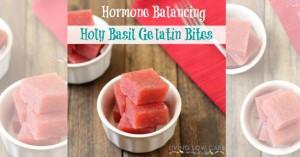 Hormone Balancing Strawberry Tulsi Gelatin Bites