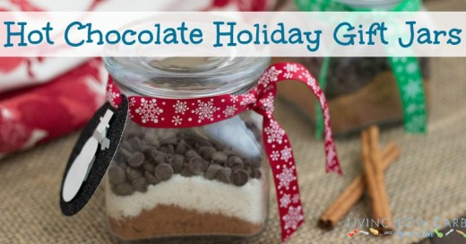Hot Chocolate Holiday Gift Jars