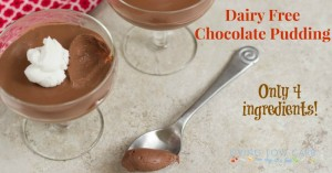Five Ingredient Friday: Chocolate Pudding