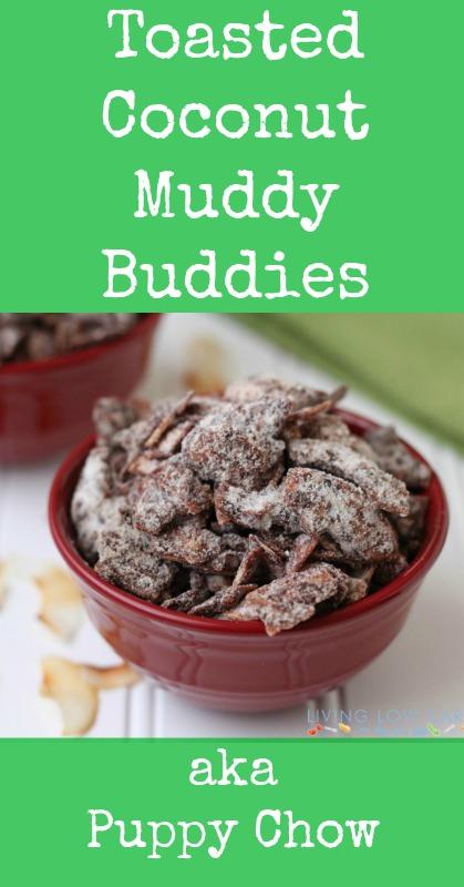 Toasted Coconut Muddy Buddies aka Puppy Chow_p