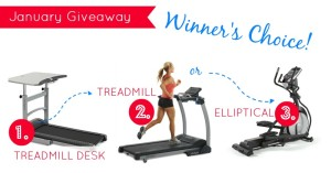 New Year Fitness Giveaway–Winner's Choice: Treadmill Desk, Elliptical Machine, or Folding Treadmill