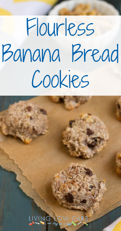Flourless Banana Bread Cookies with no added sweetener | holistically.wpengine.com #grainfree #paleo