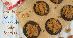 Grain Free German Chocolate Cake Cookies