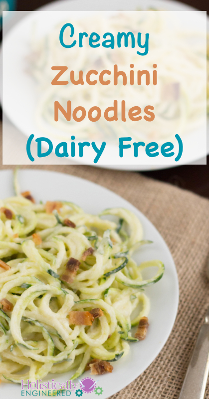 Creamy Zucchini Noodles | holisticallyengineered.com #paleo #grainfree #lowcarb #dairyfree