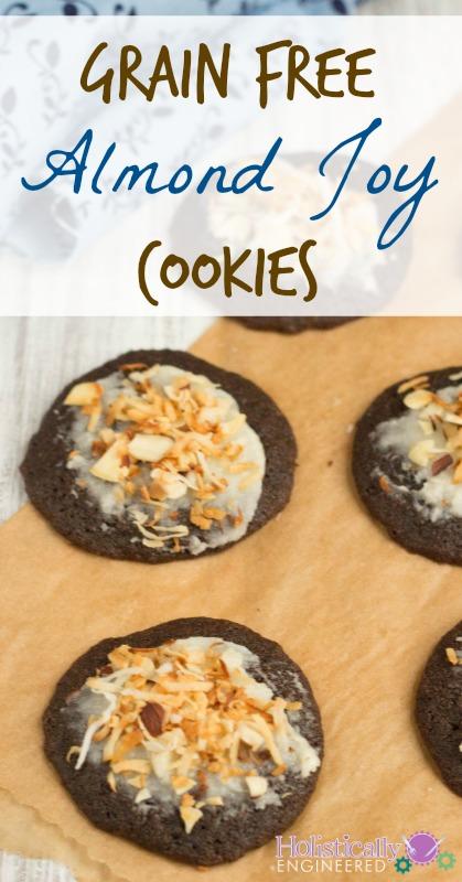 Grain Free Almond Joy Cookies | holisticallyengineered.com #grainfree #paleo #lowcarb #chocolate #cookies