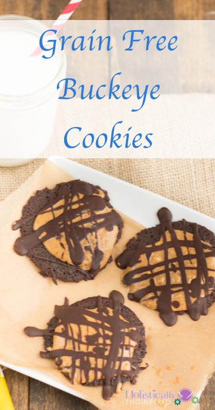 Grain Free Buckeye Cookies   holisticallyengineered.com #grainfree #paleo #dessert #lowcarb
