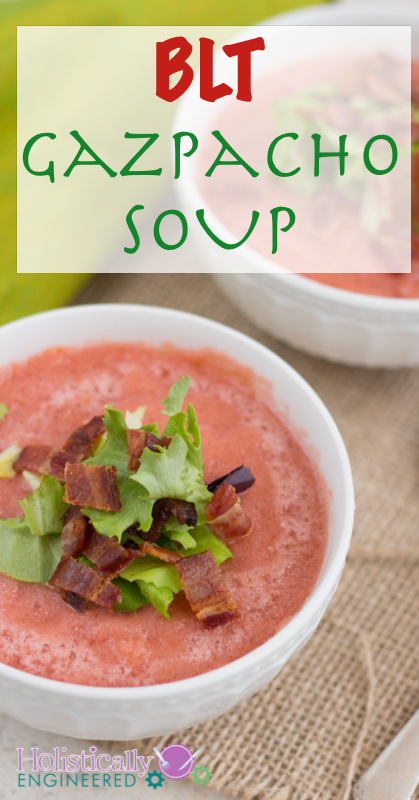 BLT Gazpacho Soup | holisticallyengineered.com #paleo #dairyfree #grainfree