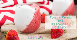 Coconut Cream and Strawberry Gelatin (Paleo and Dairy Free)