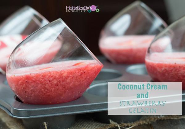 Paleo Strawberry Gelatin | holisticallyengineered.com #paleo #dairyfree #lowcarb