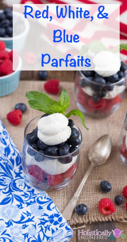 Fourth of July Parfaits | #lowcarb #paleo #grainfree