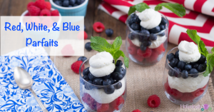 Red, White, and Blue Parfaits (Low Carb and Paleo Fourth of July Dessert)