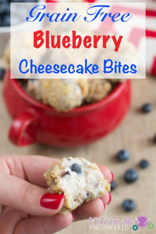 Grain Free No Bake Blueberry Cheesecake Bites #grainfree #lowcarb #nobake