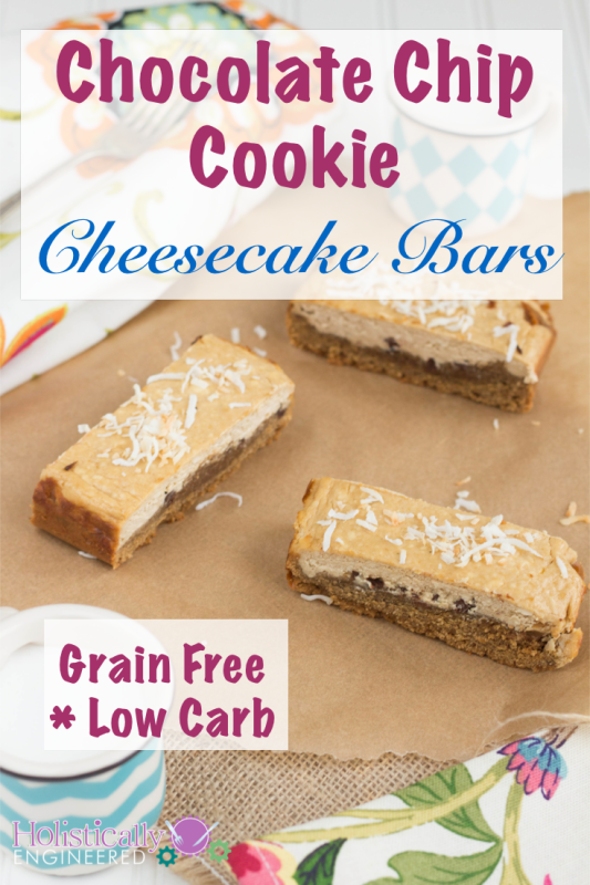 Grain Free Chocolate Chip Cookie Bars #grainfree #lowcarb