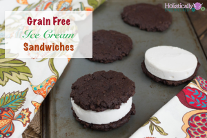 Grain Free Ice Cream Sandwiches (Paleo and Low Carb)