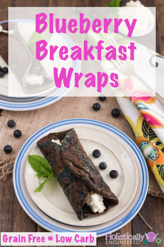 Grain Free Blueberry Breakfast Wraps