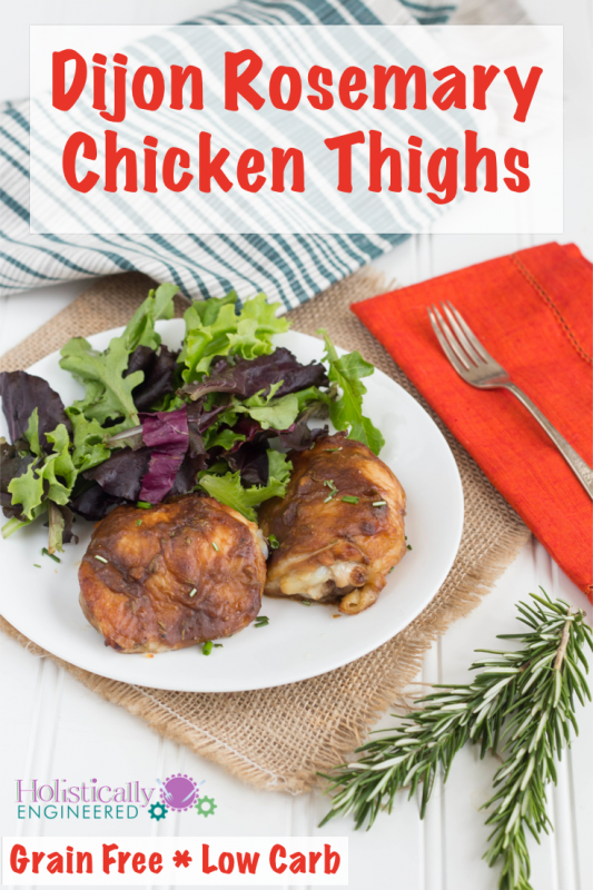 Paleo Dijon Rosemary Chicken Thighs #paleo #lowcarb