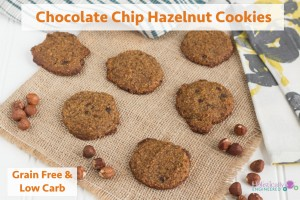 Chocolate Chip Hazelnut Cookies (Paleo and Low Carb)