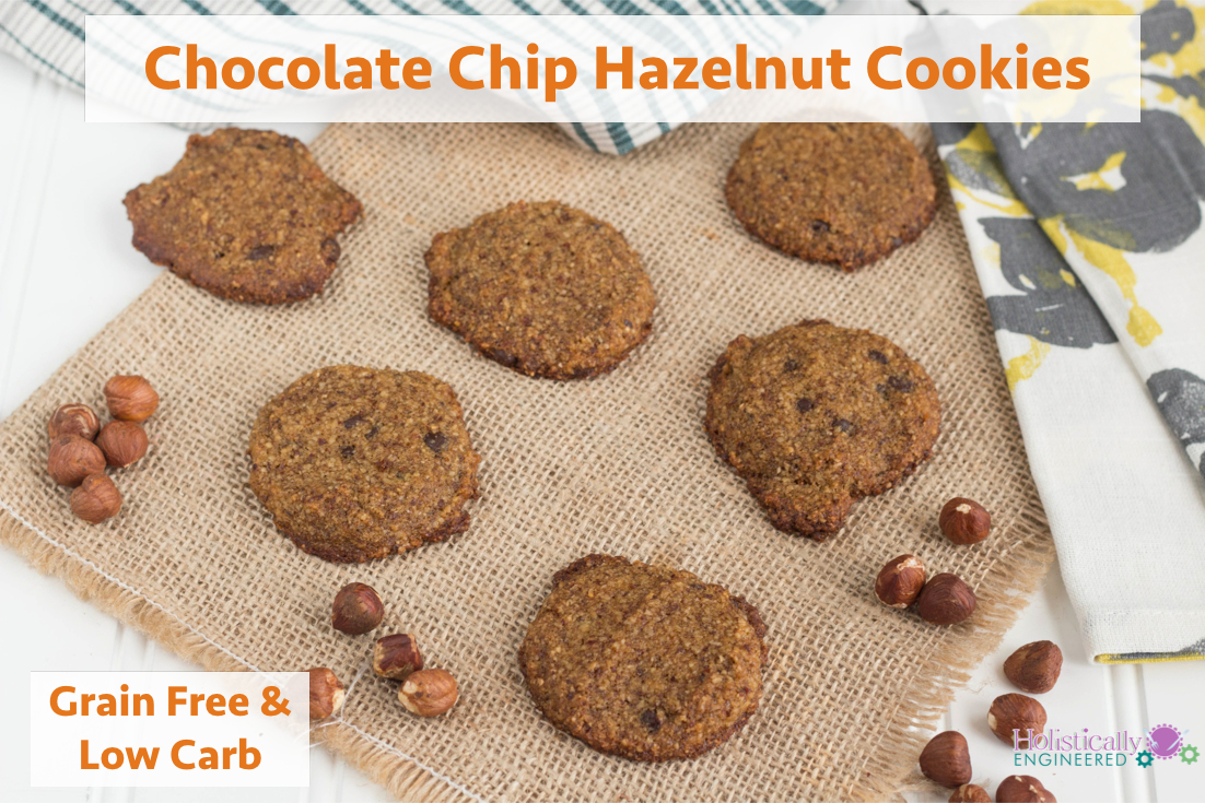 Chocolate Chip Hazelnut Cookies (Paleo and Low Carb) - Holistically ...