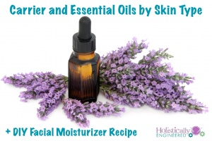 Carrier and Essential Oils by Skin Type and DIY Facial Moisturizer