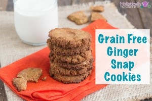Ginger Snap Cookies (Grain Free)