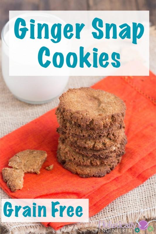 Grain Free Ginger Snap Cookies