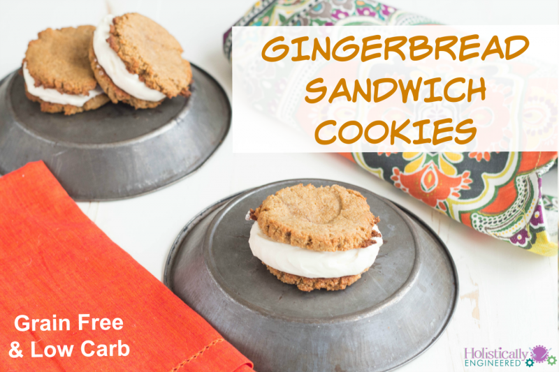 Gingerbread Sandwich Cookies (Grain Free and Low Carb ...