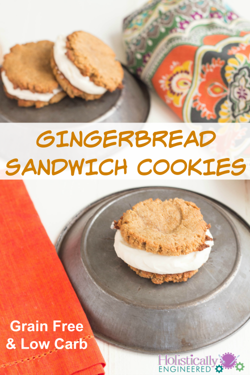 Grain Free Gingerbread Sandwich Cookies